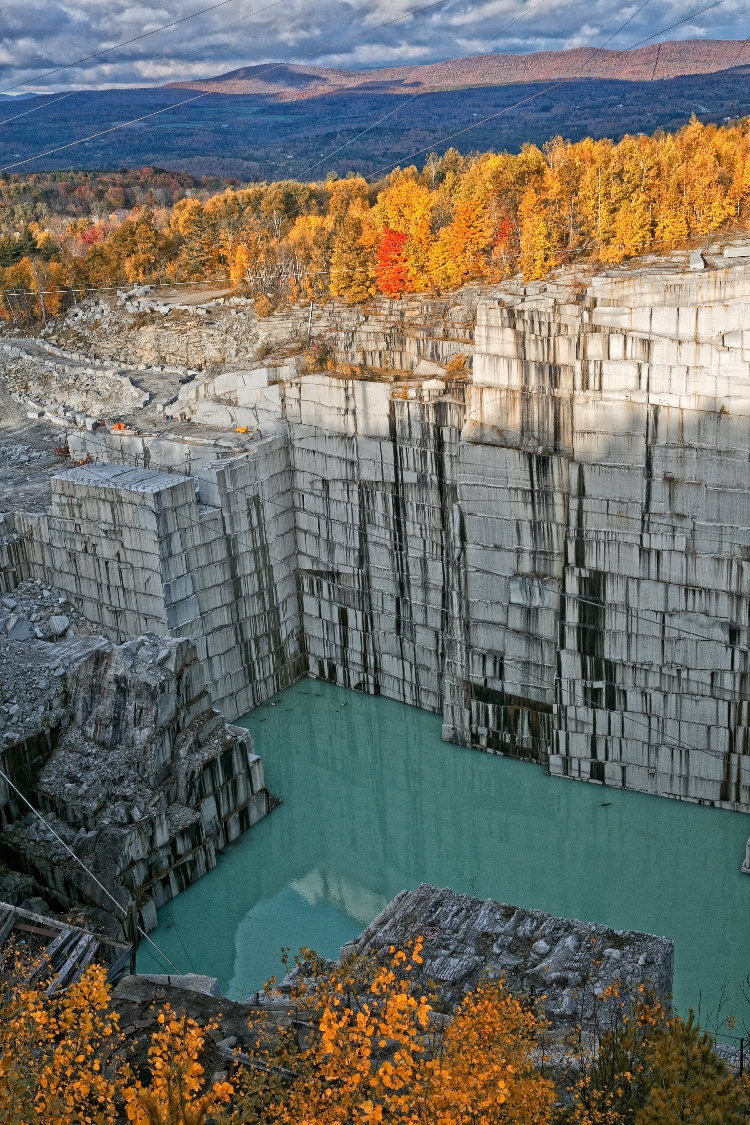 Rock of Ages quarry tours Barre Vermont fall foliage