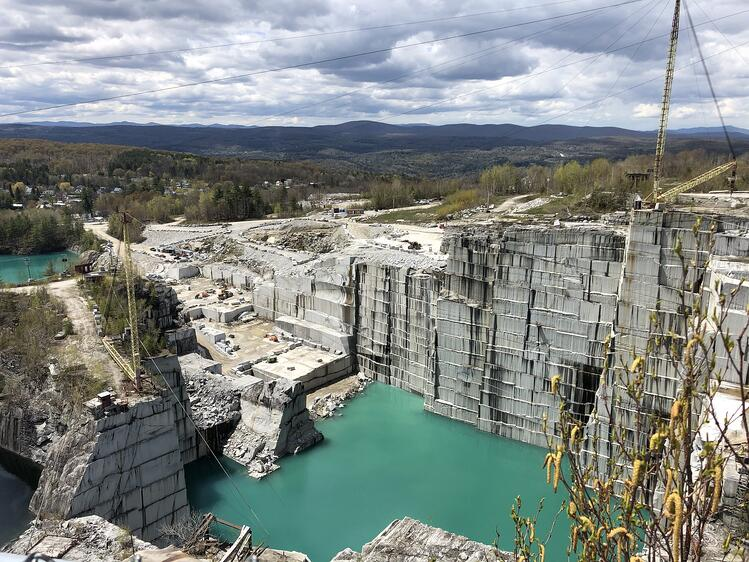 Rock of Ages E.L. Smith Quarry in Barre, Vermont in high resolution color