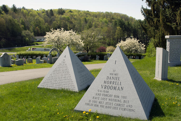 The Twin Pyramids Hope Cemetery Vermont