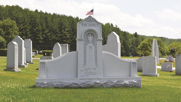 Memorial Rock of Ages Blue Gray granite