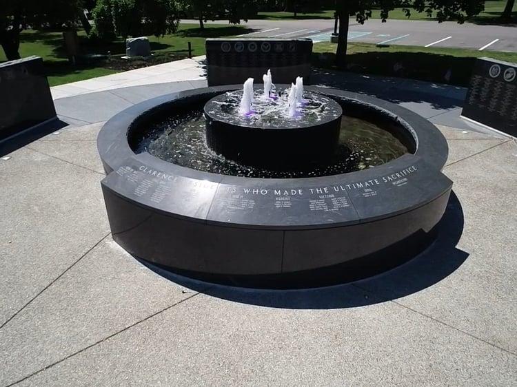 Clarence Veterans Memorial Rock of Ages Black Mist granite