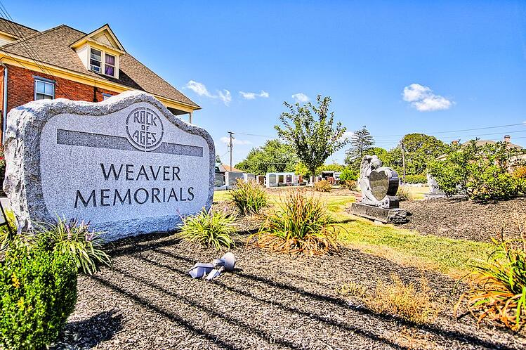 weaver memorials storefront new holland pa rock of ages