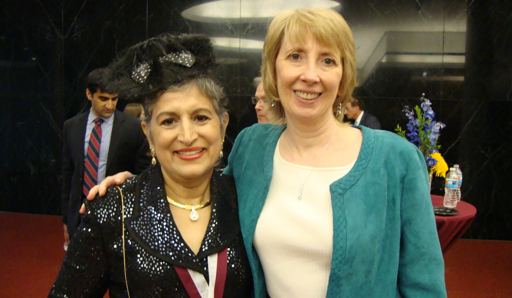 Anjuli Nayak and author Eveyln Puerto.